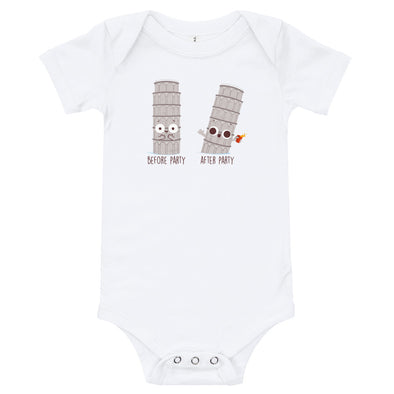 Before After Party - Baby Bodysuit Short Sleeve