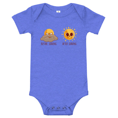 Before After Shaving - Baby Bodysuit Short Sleeve
