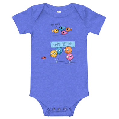 Happy Birthday - Baby Bodysuit Short Sleeve