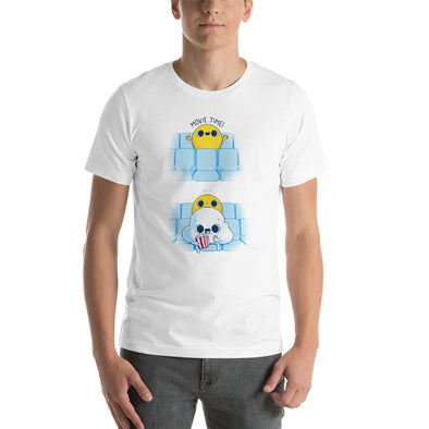 Movie Time - Bella + Canvas 3001 Unisex Short Sleeve Jersey T-Shirt