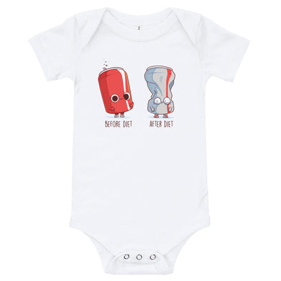Before After Diet - Baby Bodysuit Short Sleeve
