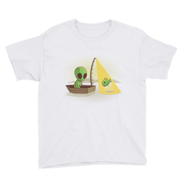 Alien Fishing - Youth Short Sleeve T-Shirt