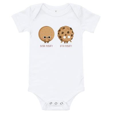 Before After Puberty - Baby Bodysuit Short Sleeve