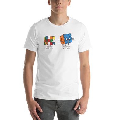 Before After Coffee - Short-Sleeve Unisex T-Shirt