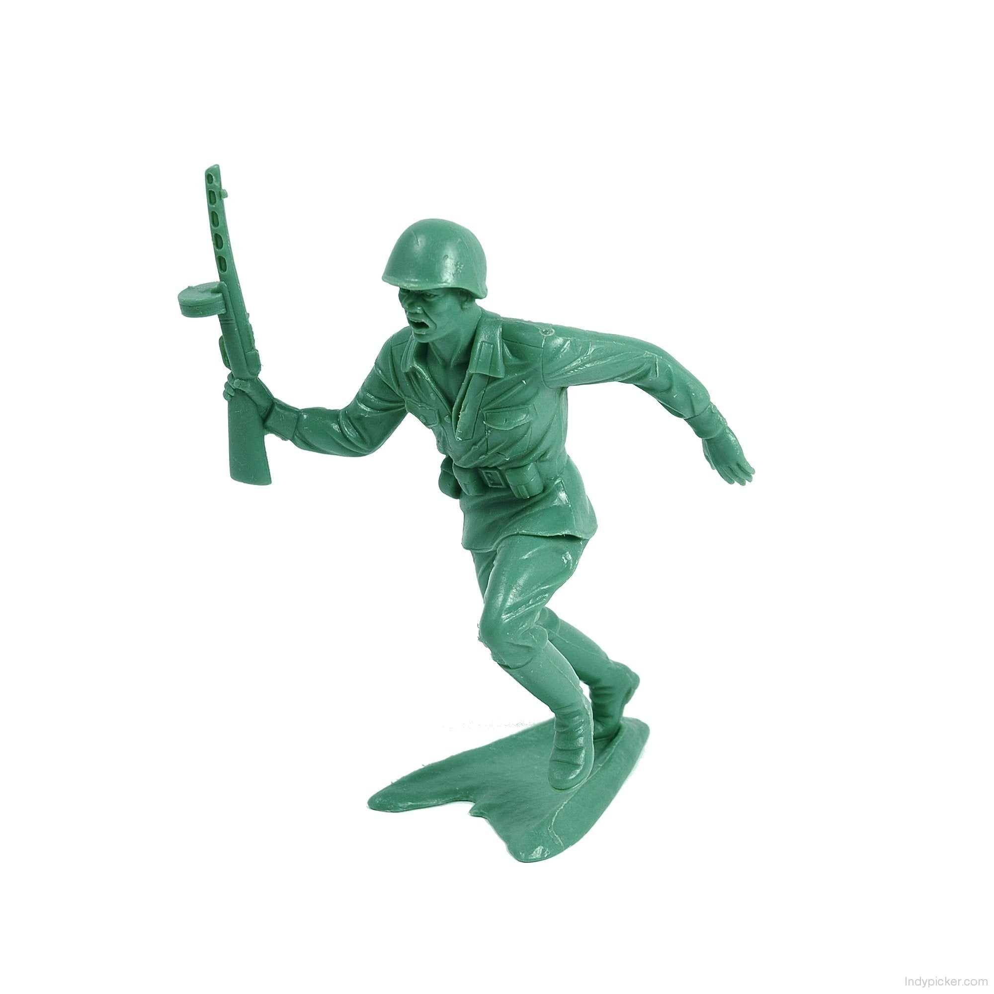 Vintage Marx Plastic Army Man with Tommy Gun