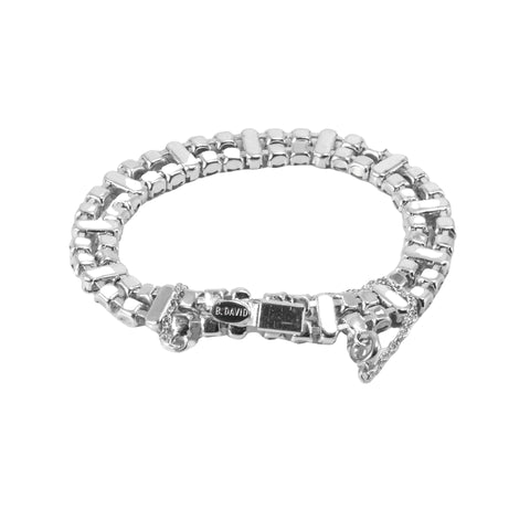 Art Deco Jewelry B David Rhinestone Bracelet