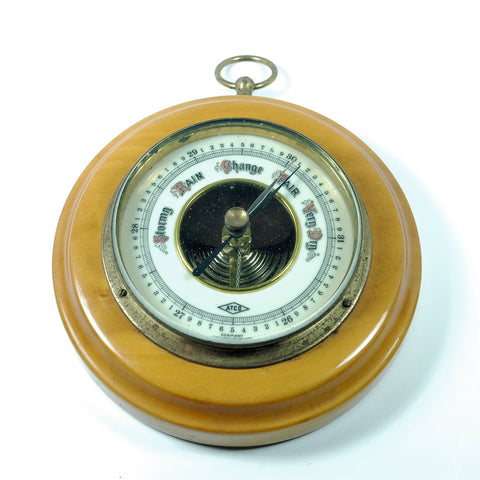 Vintage Barometer ATCO Porcelain Face Aneroid made in Germany