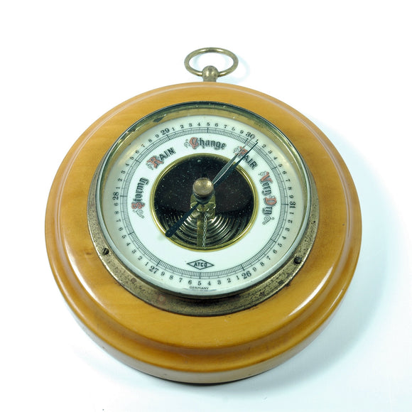 Vintage Barometer ATCO Porcelain Face Aneroid made in Germany - Indypicker.com