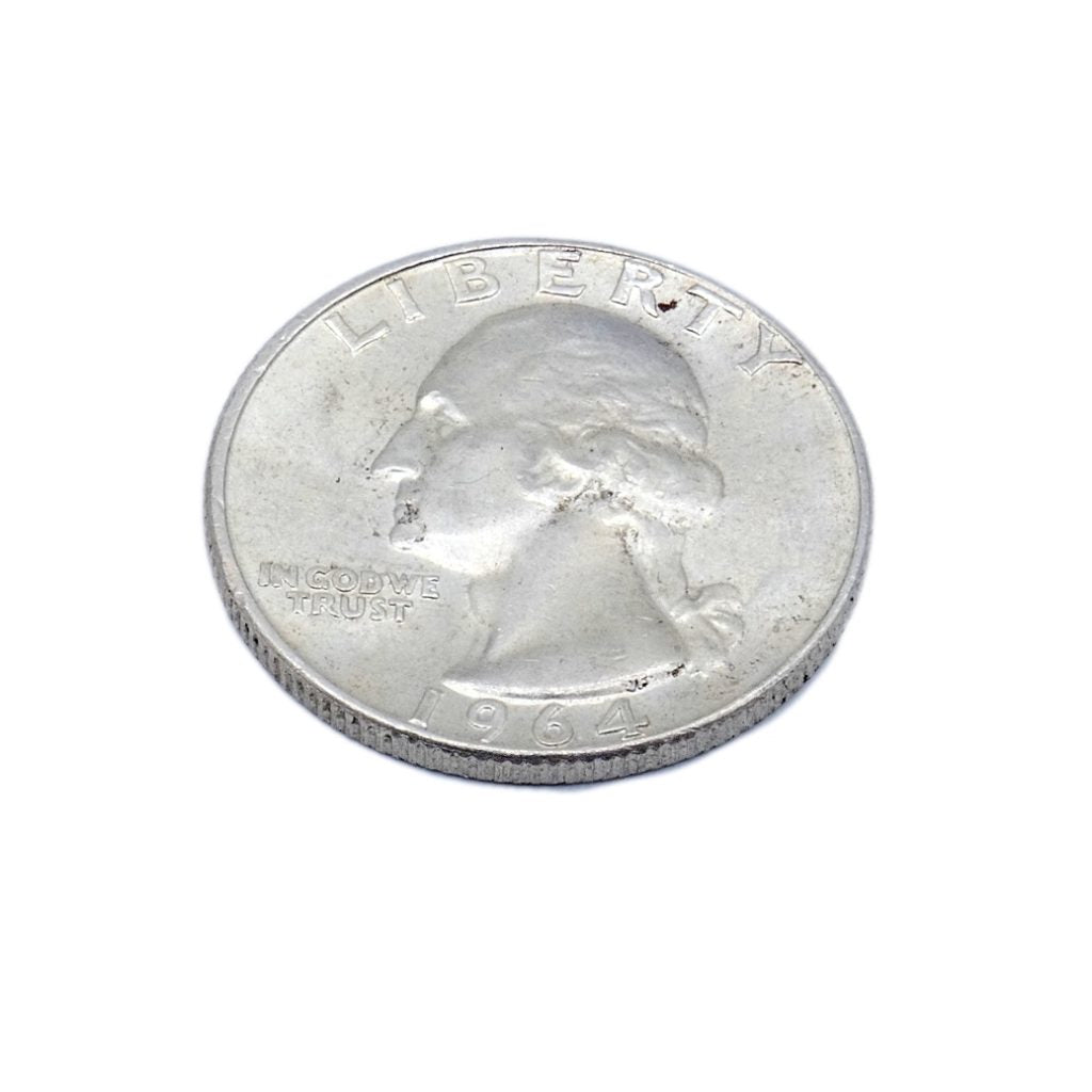 US Coins Silver Quarters 1964 D Washington AU Bright