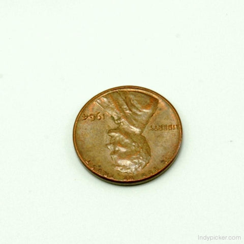 US Coins 1964 Lincoln Head Penny Error Coin XF