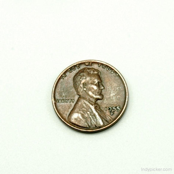 US Coins 1955 D Lincoln Wheat Penny XF - indypicker-com