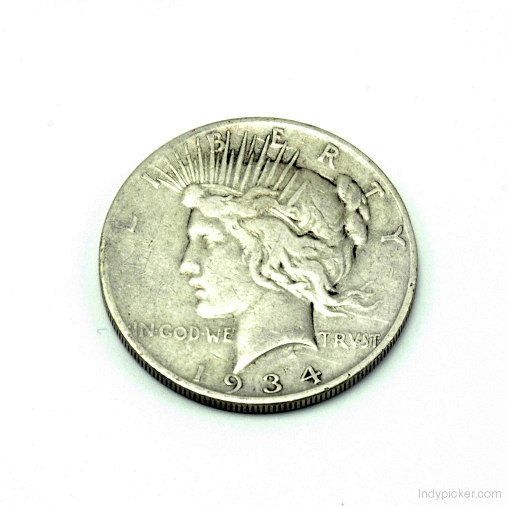 Peace Dollar 1934 S Key Date Fine