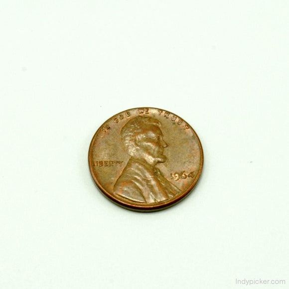 US Coins 1964 Lincoln Head Penny Error Coin XF - indypicker-com