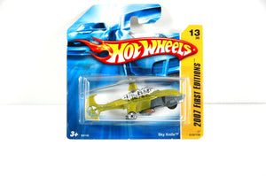 First Editon Mattel Hot Wheels Sky Knife Diecast Helicopter - indypicker-com