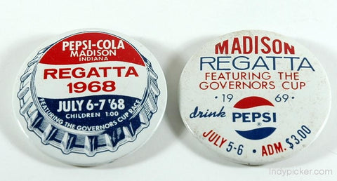 Vintage Racing Memorabilia - Madison Regatta Hydroplanes Badges