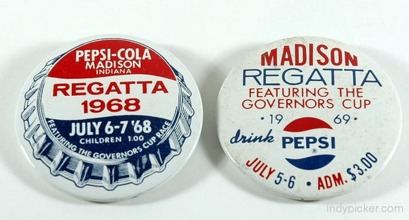 Vintage Racing Memorabilia - Madison Regatta Hydroplanes Badges (c.1968-69) - indypicker-com
