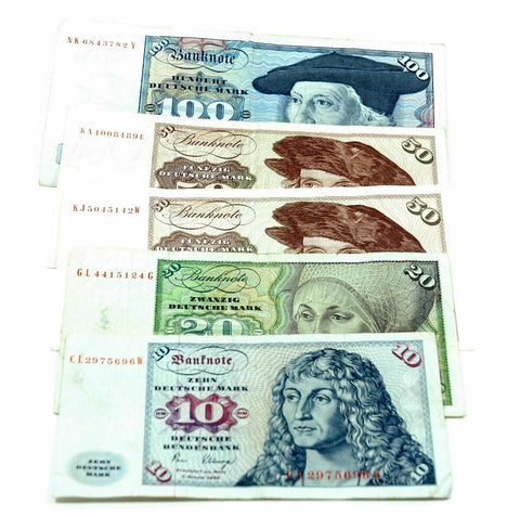 Deutsche Mark Currency - Multi-note 10 20 50 100 Bills
