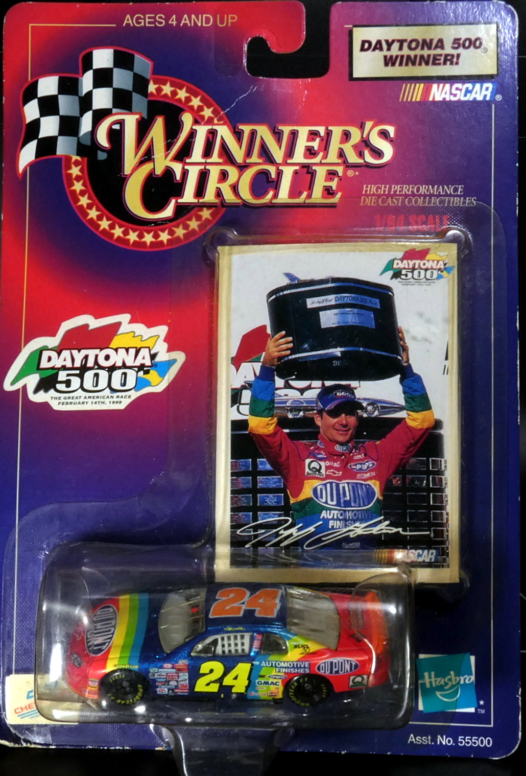Hasbro Winners Circle Jeff Gordon Daytona 500 Winner Diecast Collectible