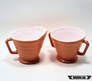 Vintage Hazel Atlas Cream and Sugar Set Pin - Indypicker.com