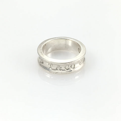 Vintage Tiffany and Company Sterling Ring Band Engraved - indypicker-com