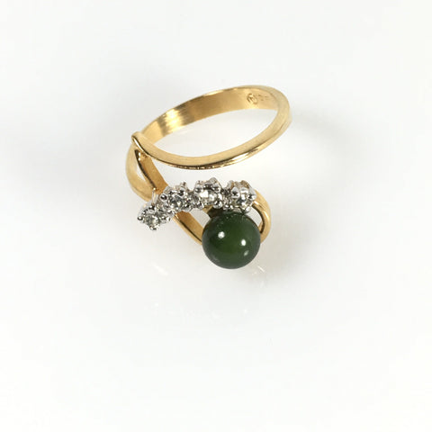 Ladies Jewelry Ana BeKoach Jade Stone Ring (c.2000)