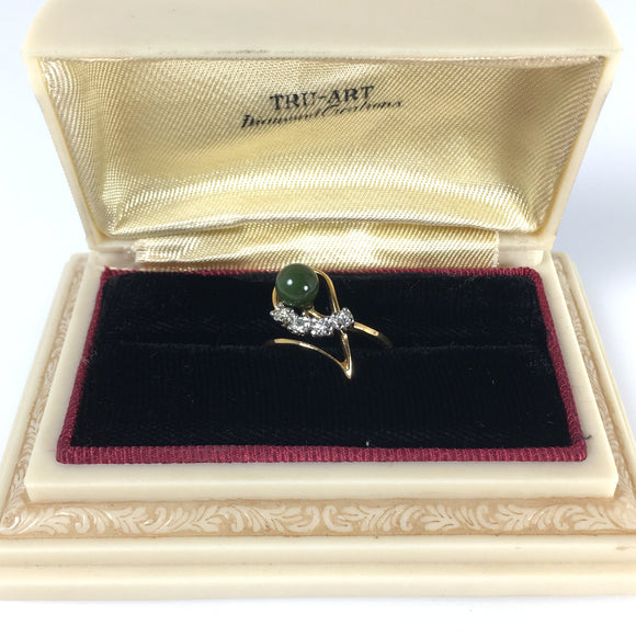 Ladies Jewelry Ana BeKoach Jade Stone Ring - Indypicker.com