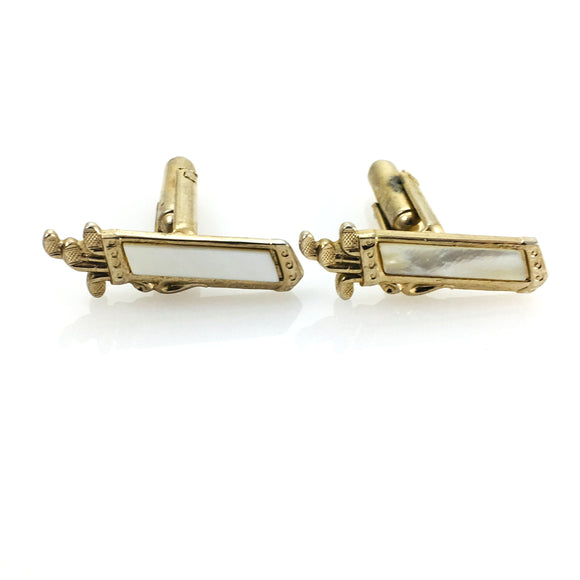 Vintage Jewelry Mens Cuff Links Golf Clubs and Bag - Indypicker.com