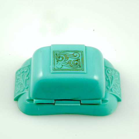 Vintage Jewelry Art Deco Aqua Ring Display Box