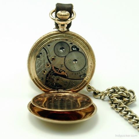 Vintage Illinois Model 2 Gold Filled Pocket Watch