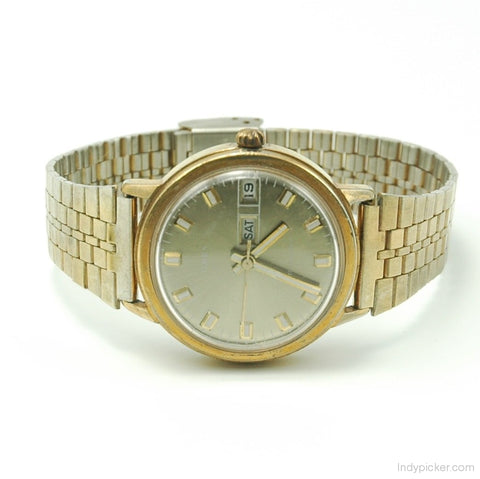 Vintage Timex Wrist Watch Day Date Mens