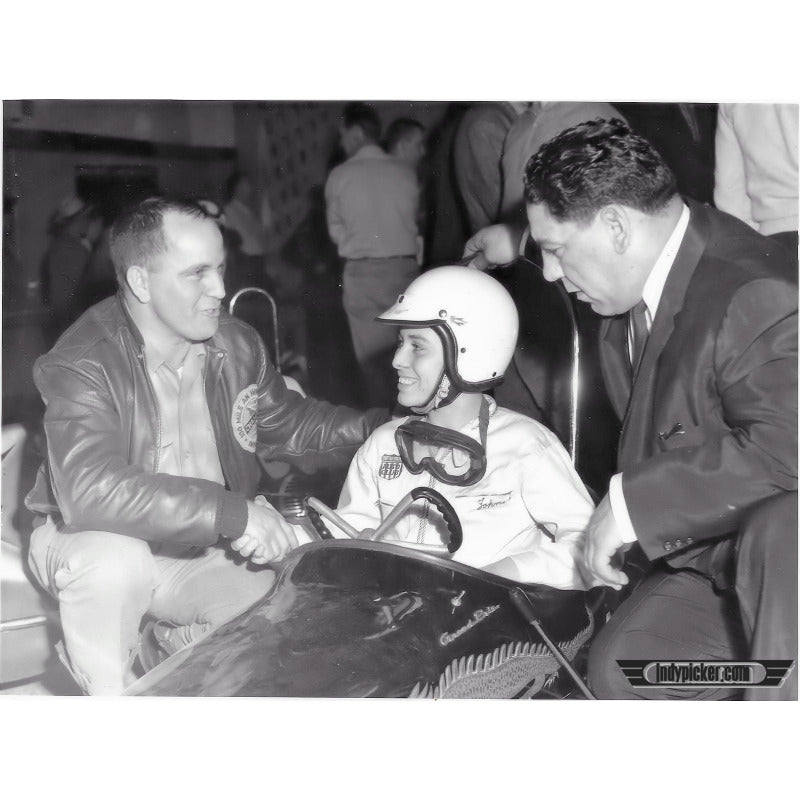 Vintage Johnny Parsons Dirt Track 5 x 7 Photo (c.1960s)