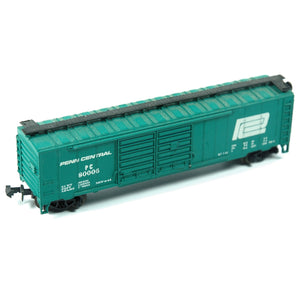 Model Train Aurora N-Scale Penn Central Box Car 80003 - Indypicker.com