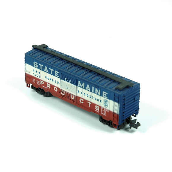 Model Train Atlas N-Scale Bangor Aroostook Boxcar 5226 (c.1990s) - indypicker-com