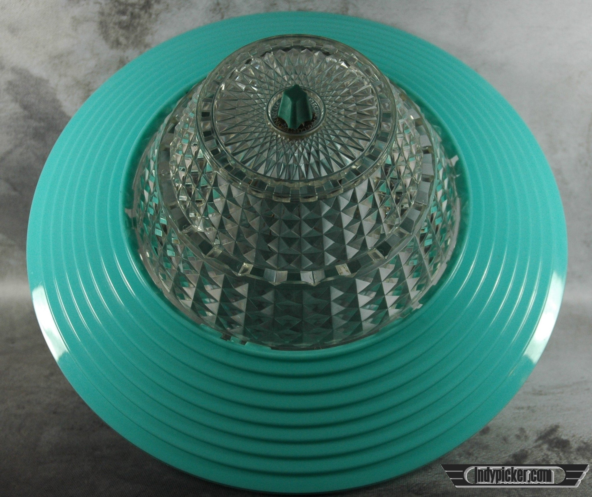 Vintage Lampshade Mid Century Modern Turquoise