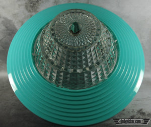 Vintage Lampshade Mid Century Modern Turquoise - Indypicker.com