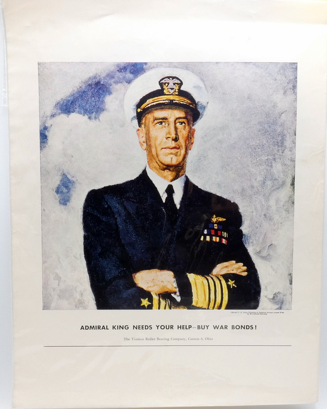 World War II Poster Admiral Ernest King USN