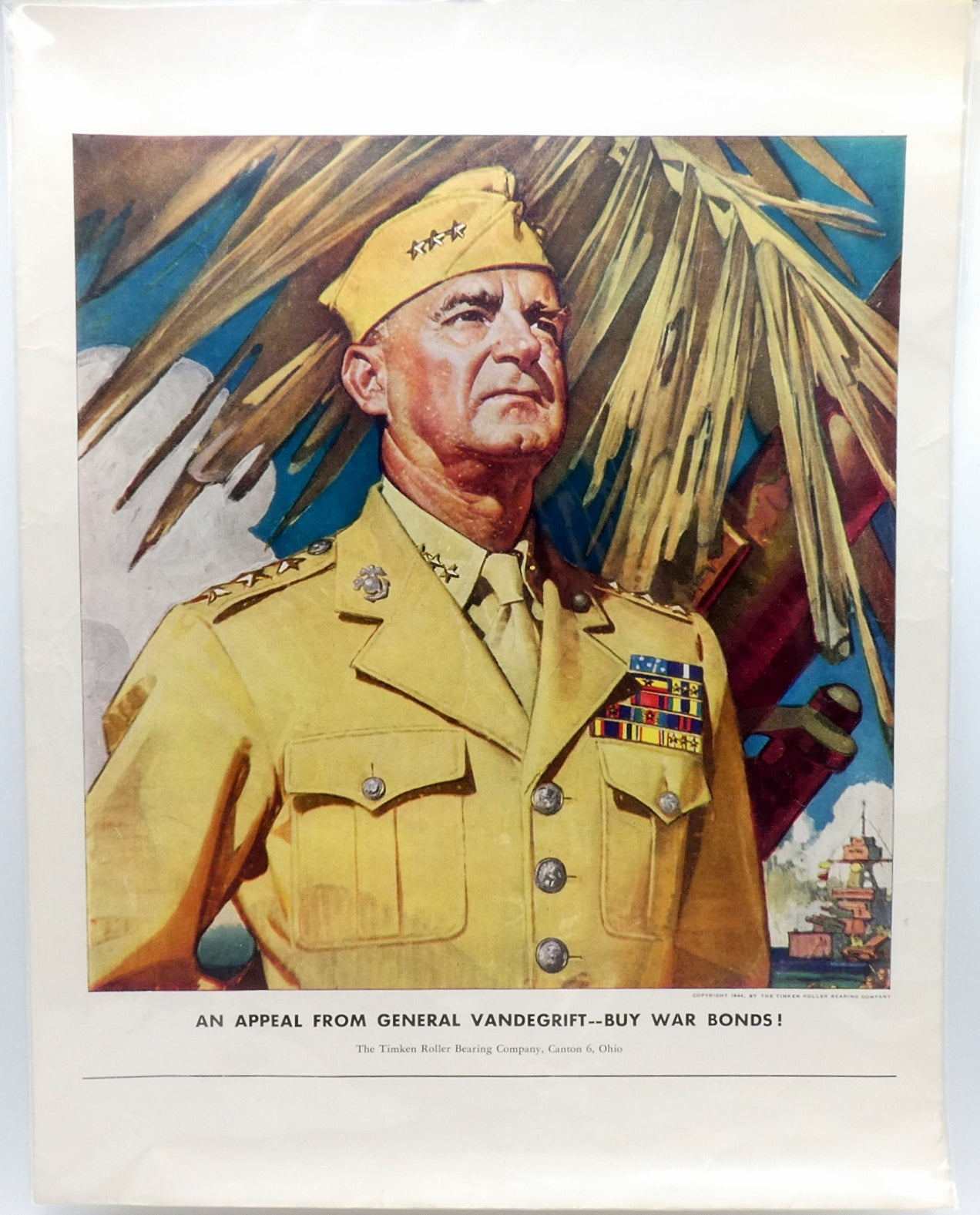 World War II Poster General Alexander Vandegrift USMC