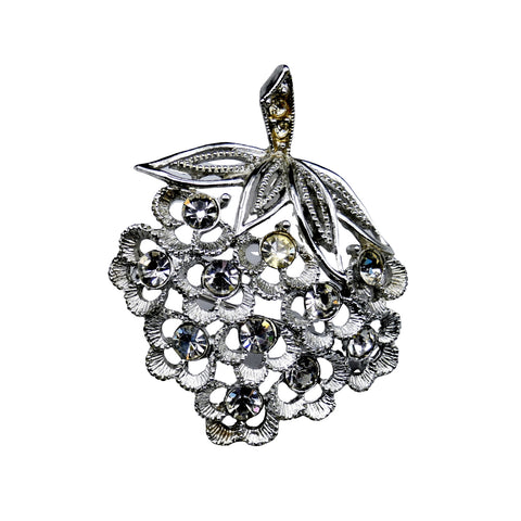 Modern Period Jewelry - Sarah Coventry Rhinestone Fruit Brooch
