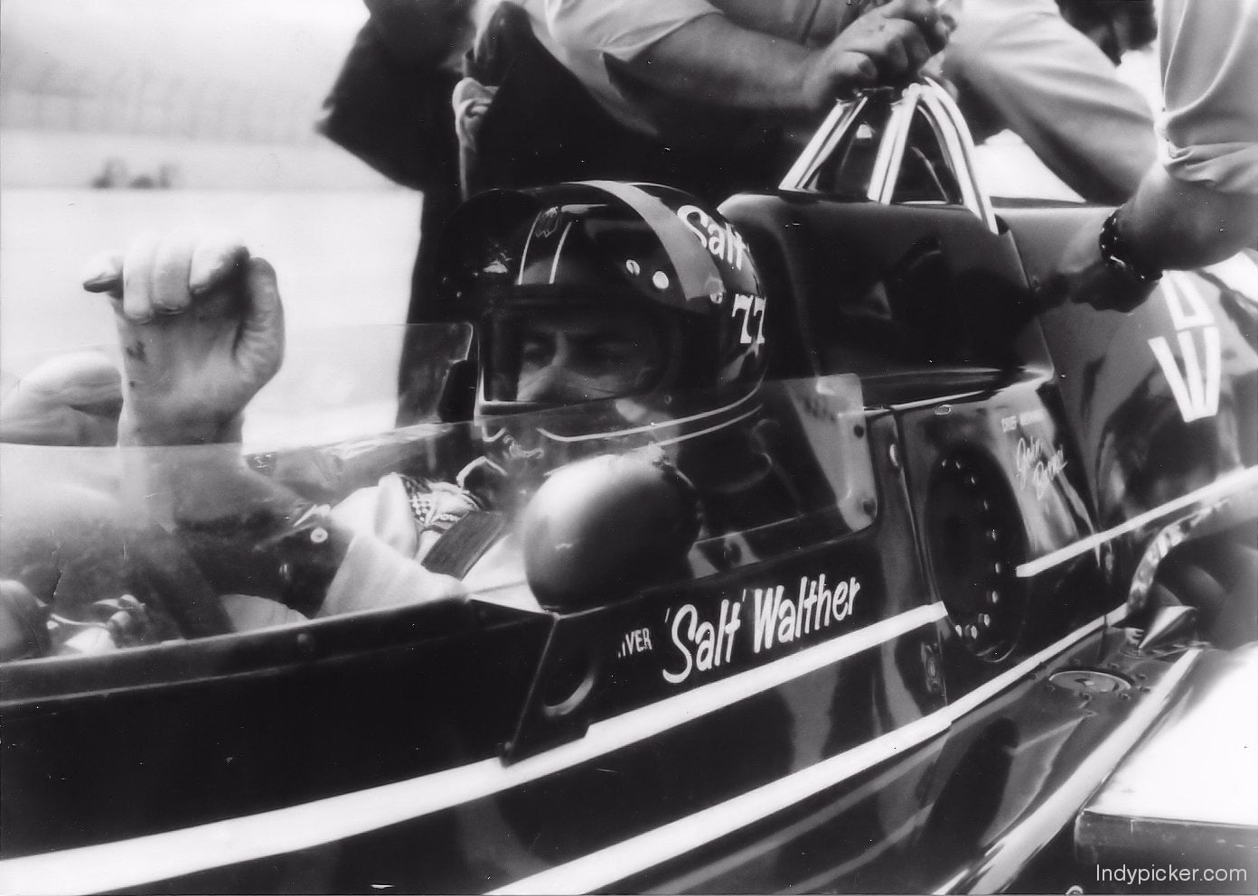 Vintage Salt Walther Photo 1975 Indianapolis 500 Cockpit 5 x 7