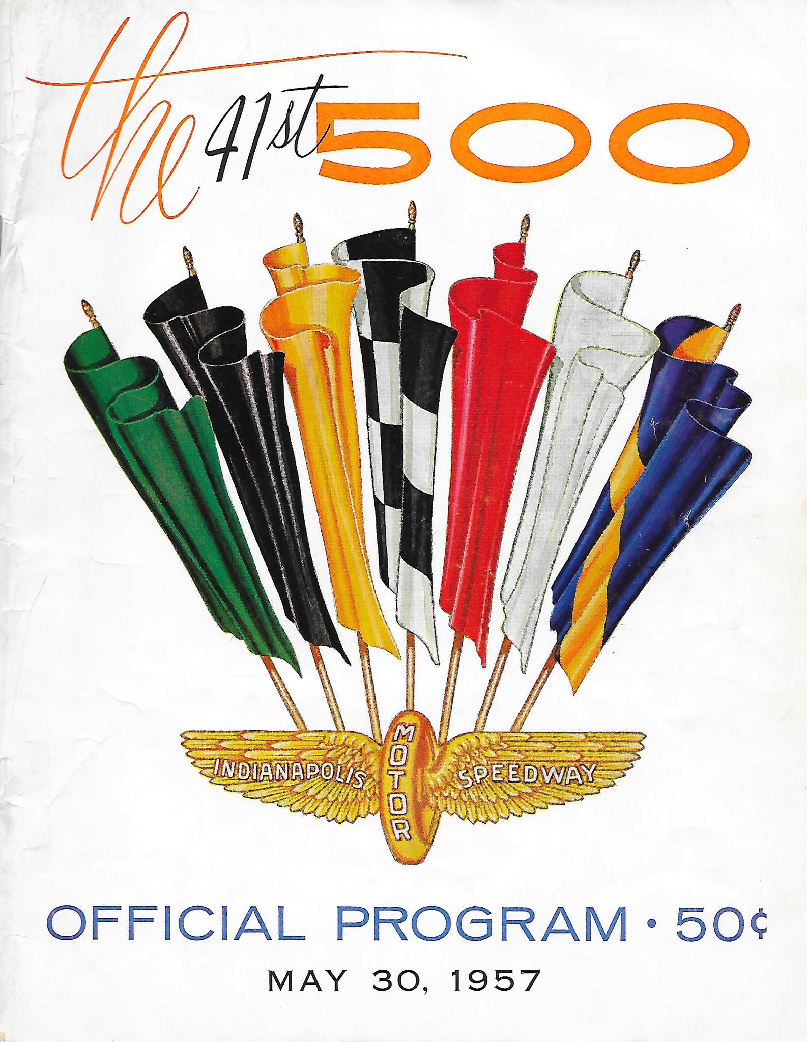 Vintage Racing Memorabilia - 1957 Indianapolis 500 Race Program