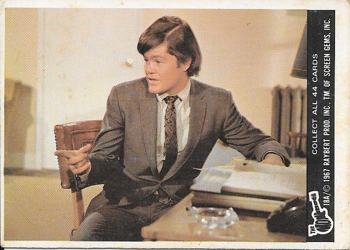 Vintage Collector Card 1967 Monkeys Mickey Dolenz