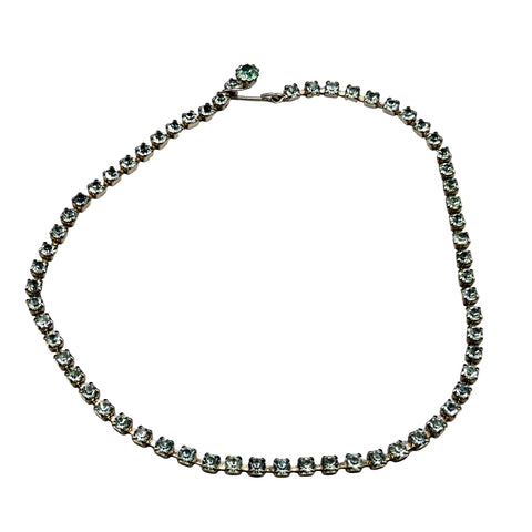 Modern Period Jewelry - Topaz Green and Gold Single Strand Choker