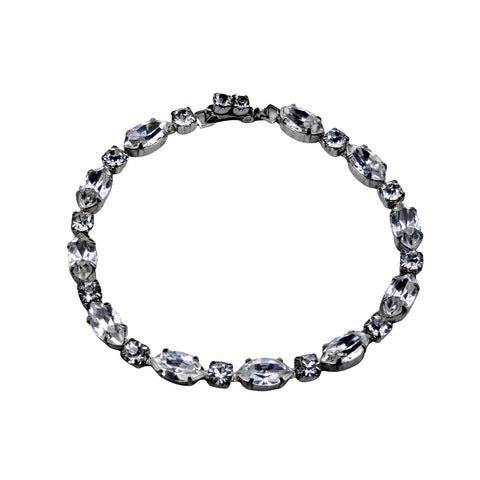 Retro Period Jewelry - Weiss Rhinestone Single Strand Bracelet