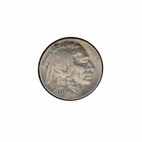 Vintage Coin - 1937 Buffalo Nickel Full Horn- XF