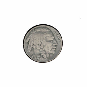 Vintage Coin - 1937 Buffalo Nickel - VF