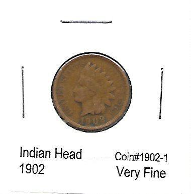 1902 Indian Head Cent VF US Antique Coin | Collectibles - indypicker.com