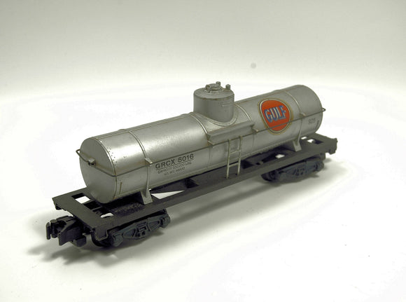 Vintage American Flyer 925 Gulf Oil Tanker Car Rolling Stock S-Scale - indypicker.com