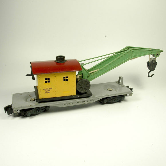 Vintage American Flyer 906 Work Crane Car Rolling Stock S-Scale - indypicker.com