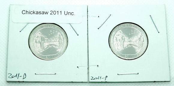 US Commemorative Quarters 2011 Chickasaw P and D Coins UNC - Indypicker.com