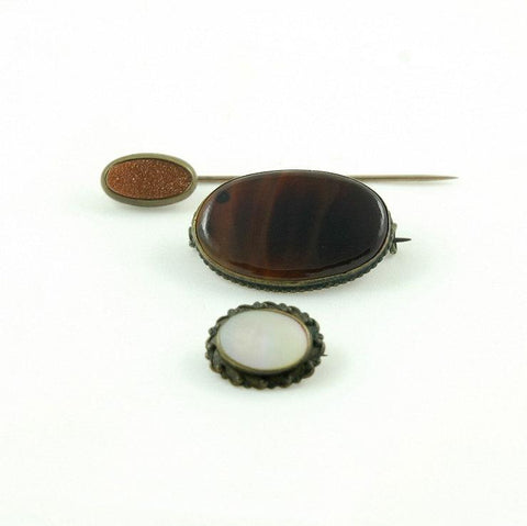 Vintage Jewelry Victorian Brooch Stick Pins